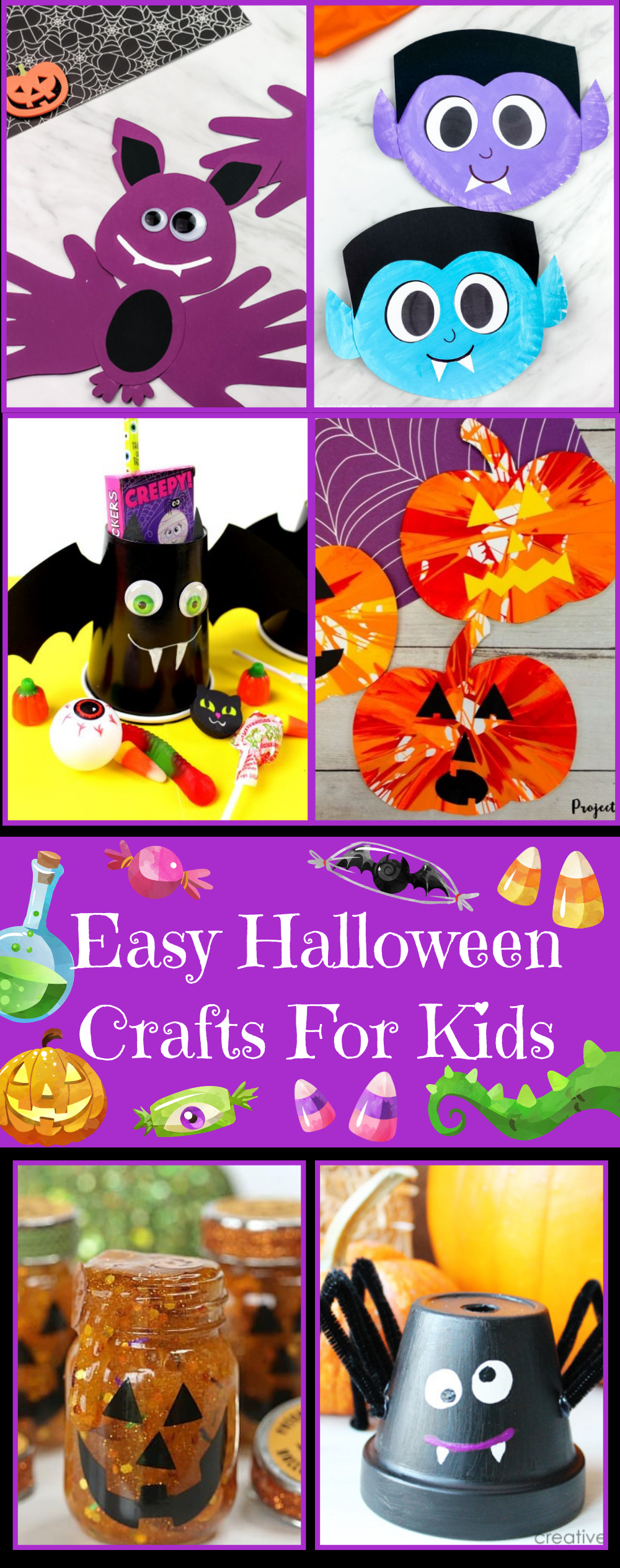 Easy Halloween Crafts for Kids 15 awesome and easy Halloween crafts that your kids are sure to love!
