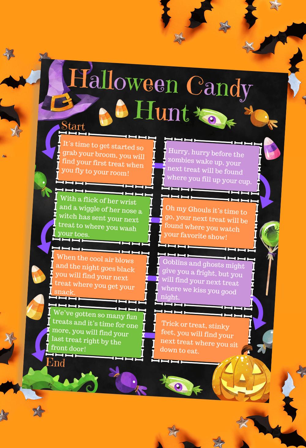 Halloween Candy Hunt Game Free Printable