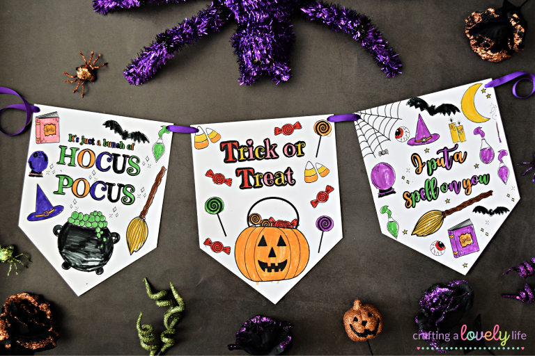 Halloween Banner Coloring Pages Free Printable
