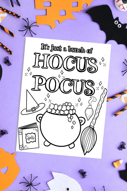 Hocus Pocus Printable Halloween Coloring Page