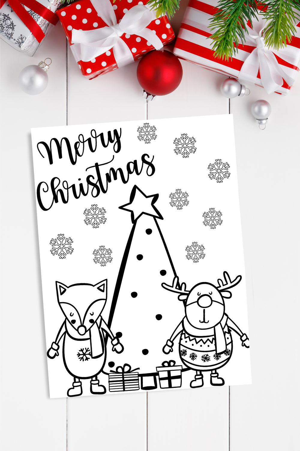 Merry Christmas Coloring Page Free Printable