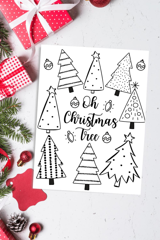 Oh Christmas Tree Coloring Page Free Printable