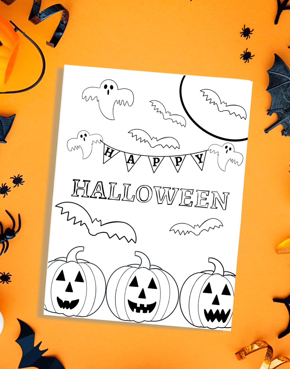 Happy Halloween Printable Coloring Page