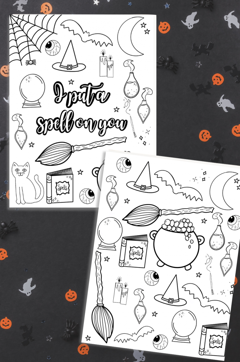 I Put a Spell on You Printable Halloween Coloring Pages