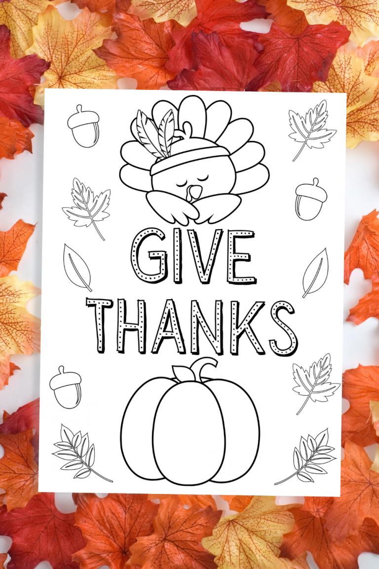 Give Thanks Free Printable Thanksgiving Coloring Page