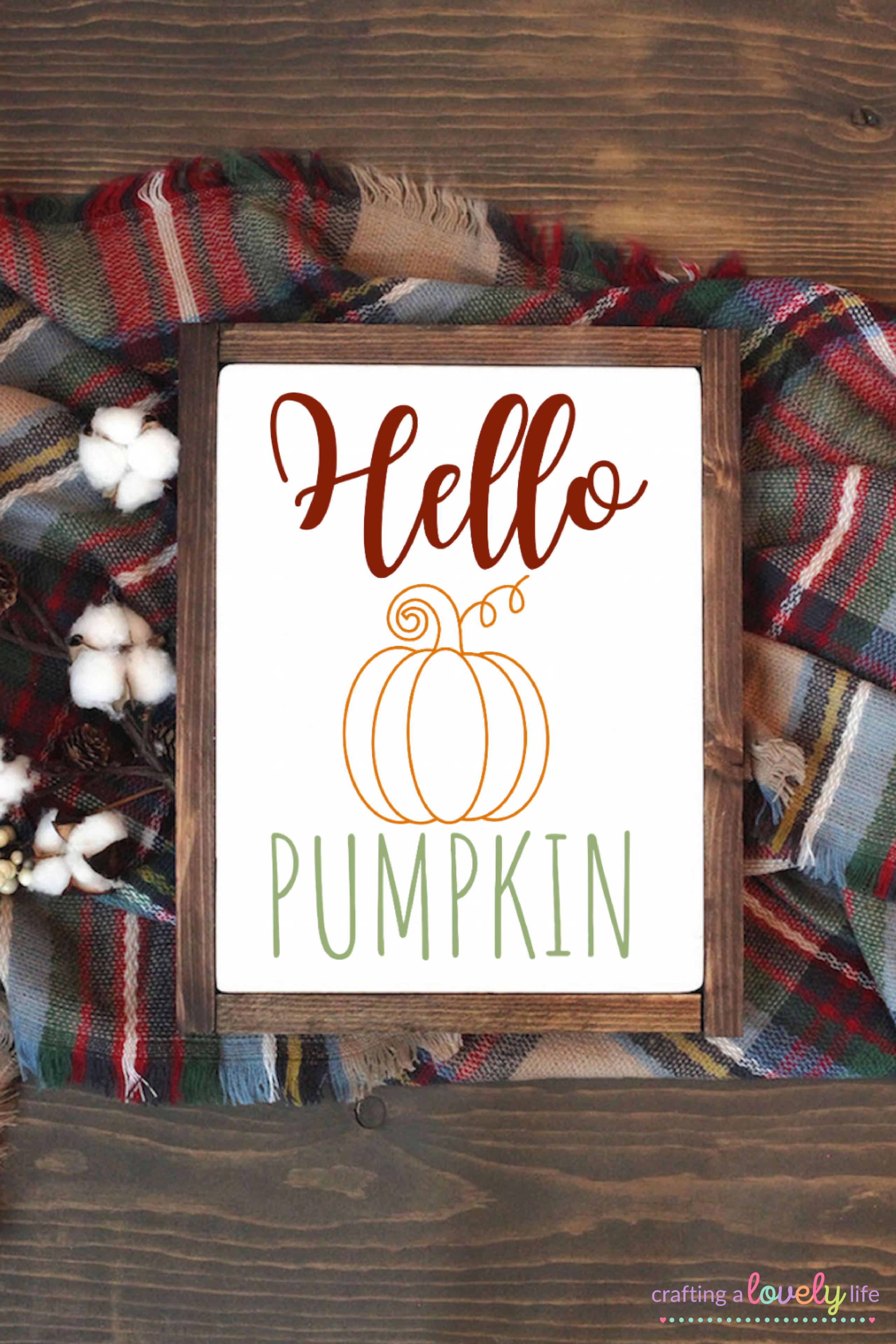 Hello Pumpkin Free SVG Cut File