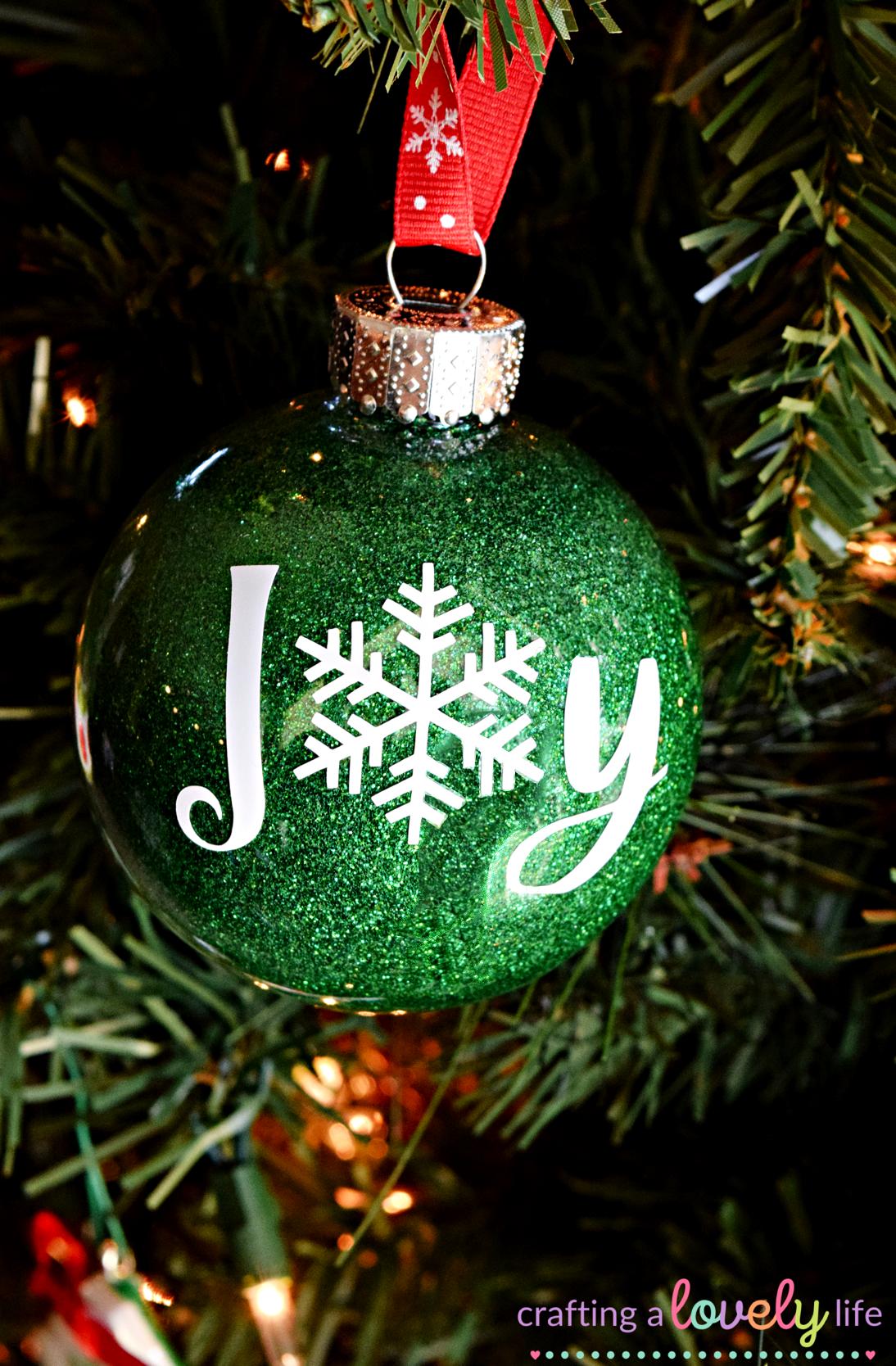 Easy DIY Glitter Ornaments