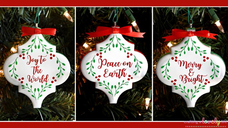 DIY Lantern Tile Ornaments