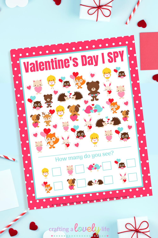 Valentine's Day I Spy Game Free Printable