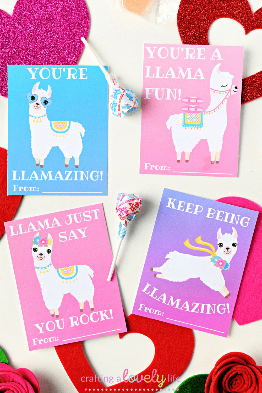 Llama Printable Valentine Free