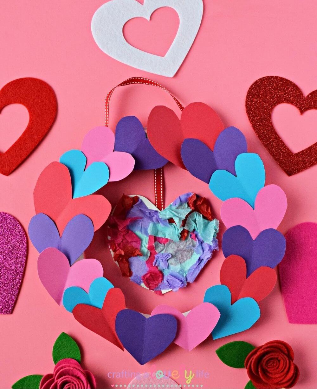 Valentine's Day Paper Plate Wreath
