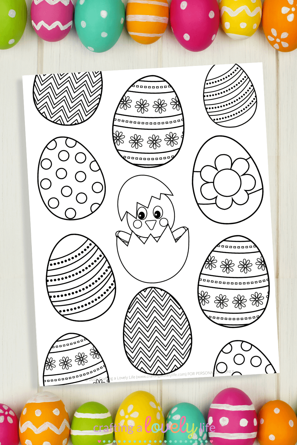 Easter Egg Coloring Pages Free Printables