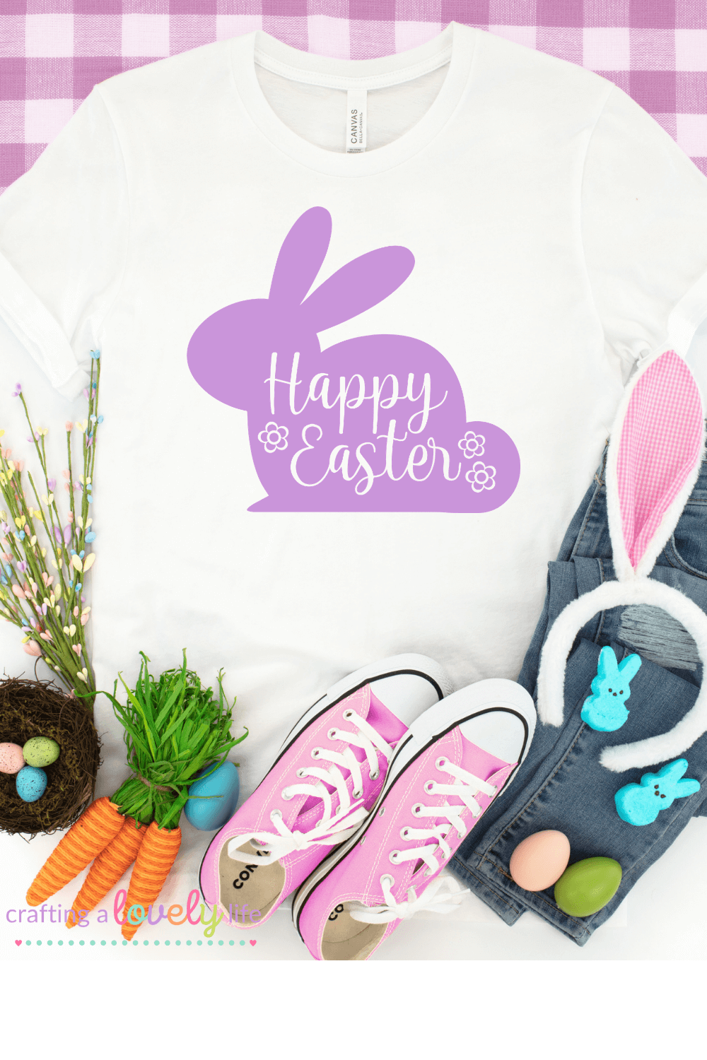 Happy Easter Bunny Free SVG Cut File
