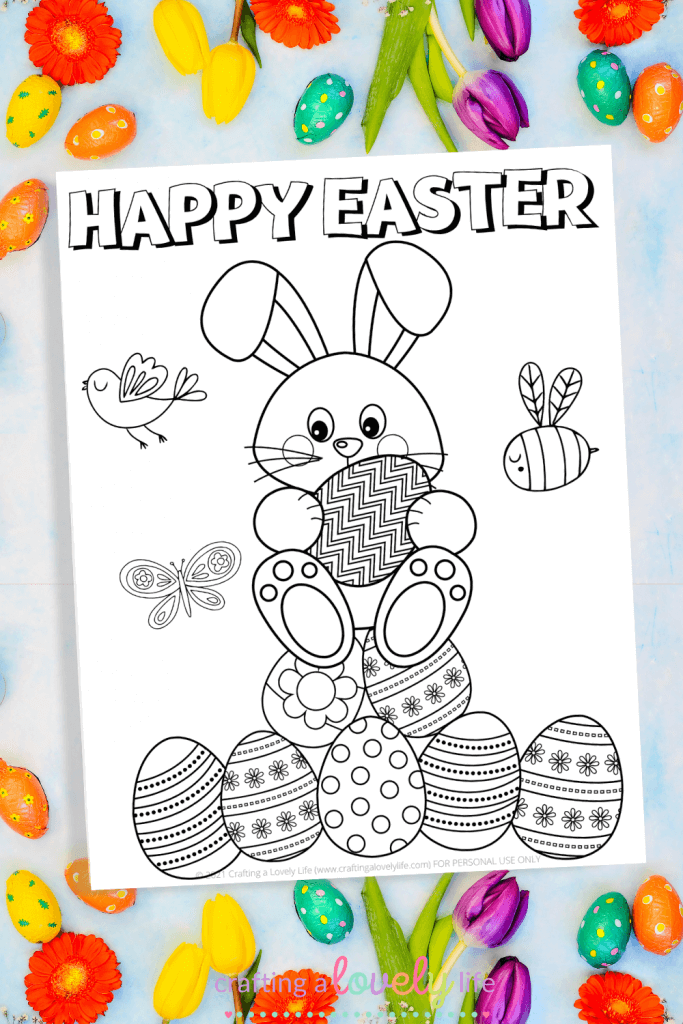 Happy Easter Coloring Page Free Printable