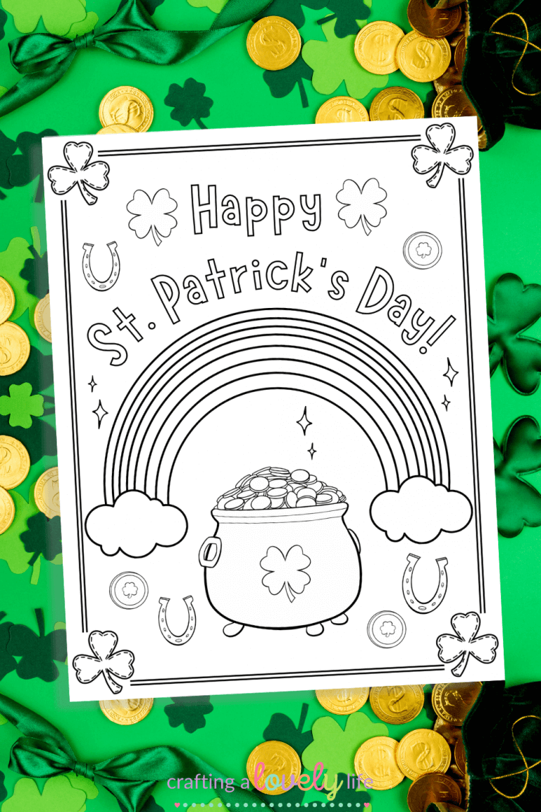 Happy St. Patrick's Day Coloring Page Free Printable