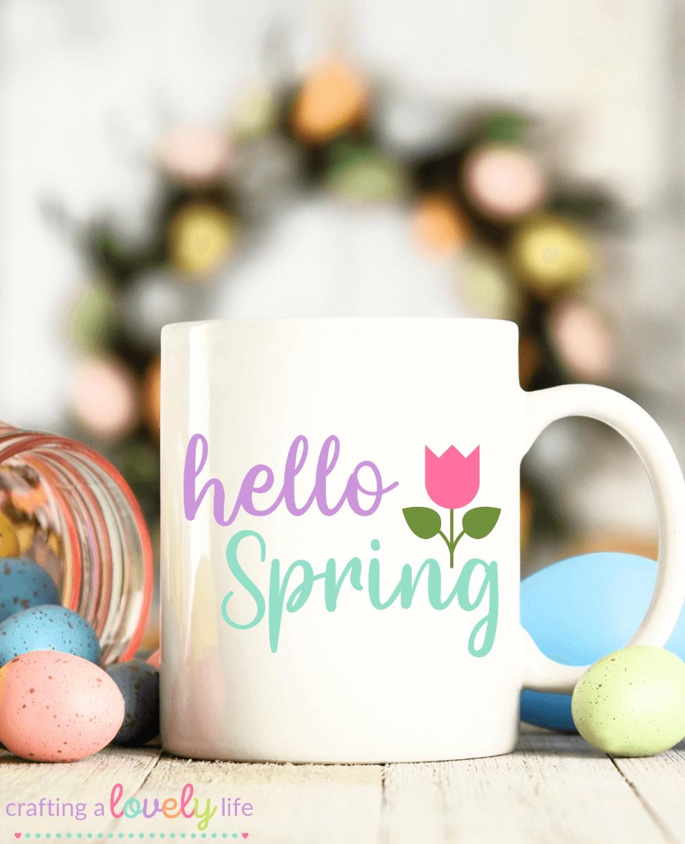 Hello Spring Tulip Free SVG Cut File