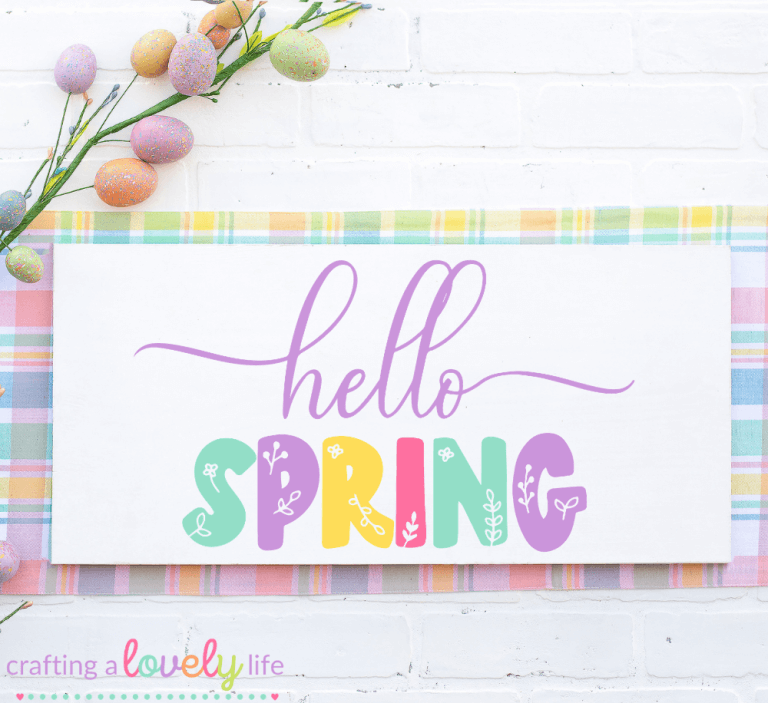 Hello Spring Flowers Free SVG Cut File