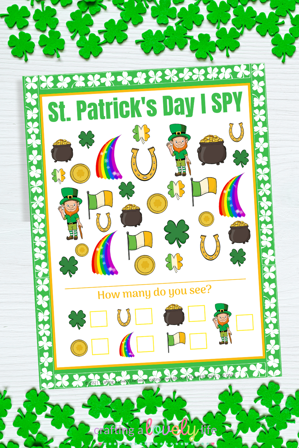 St. Patrick's Day I Spy Free Printable