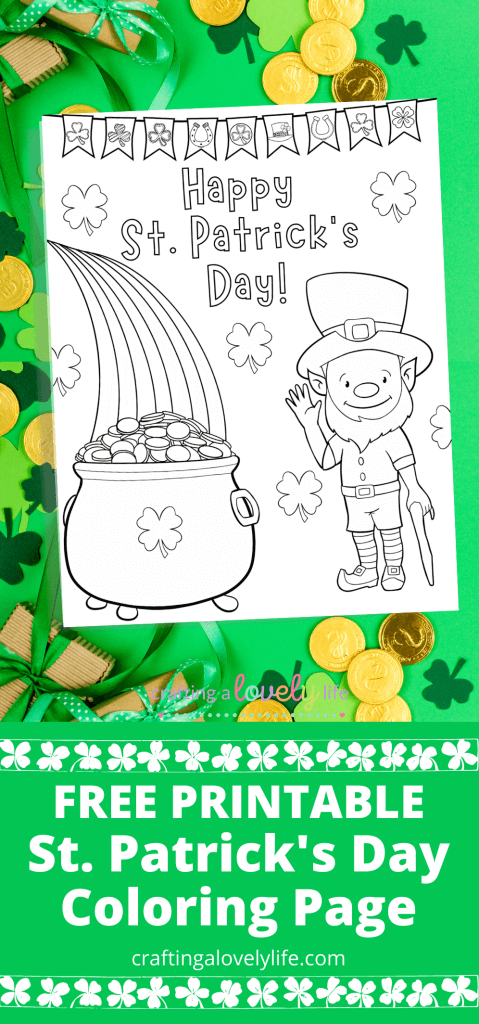 St. Patrick's Day Leprechaun Coloring Page Free Printable