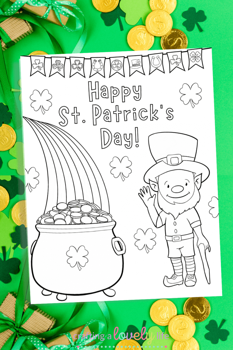 St. Patrick's Day Coloring Page Free Printable