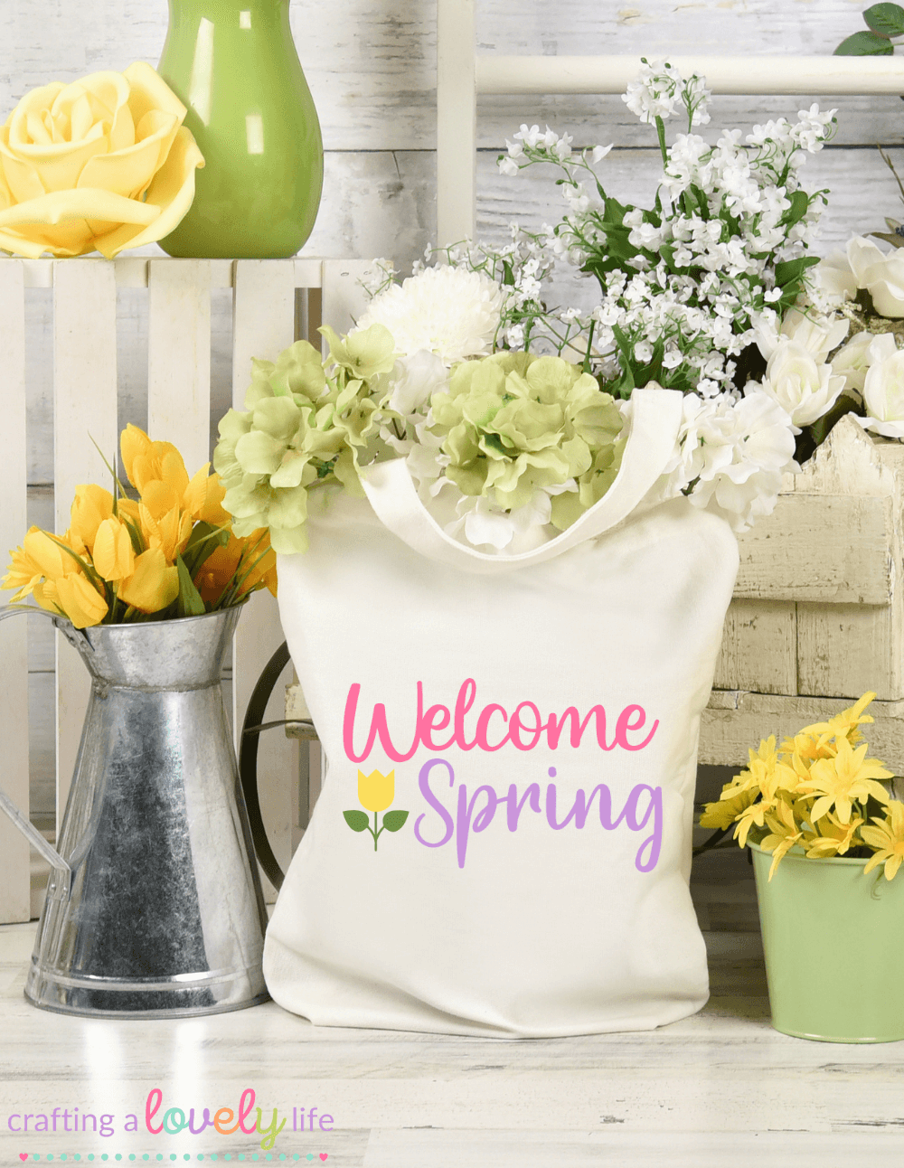 Welcome Spring Tulip Free SVG Cut File