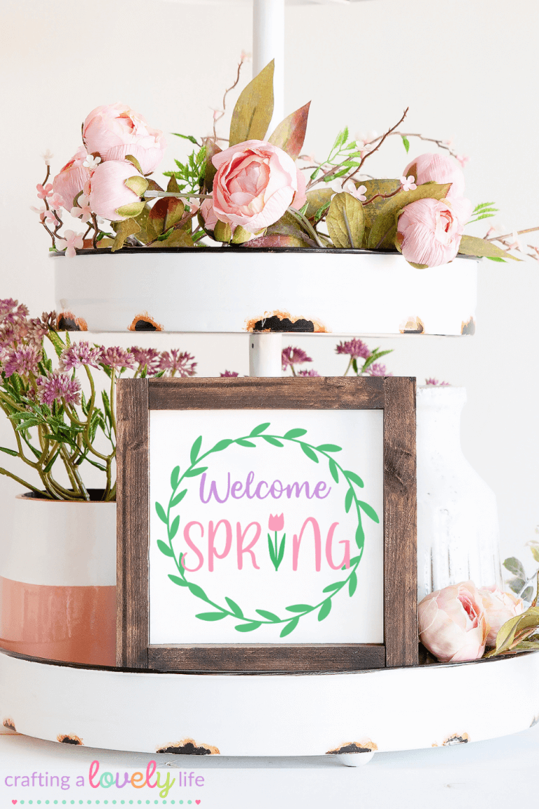 Welcome Spring Wreath Free SVG Cut File
