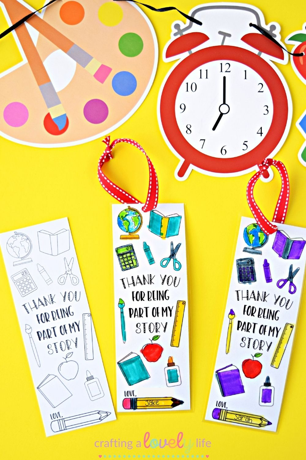 DIY Teacher Appreciation Bookmark Free Printable
