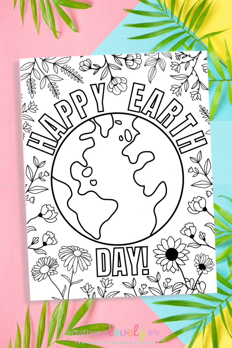 Earth Day Coloring Pages – Free Printable