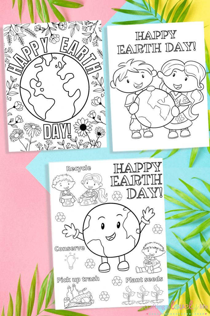 Earth Day Coloring Pages - Free Printable - Crafting A Lovely Life