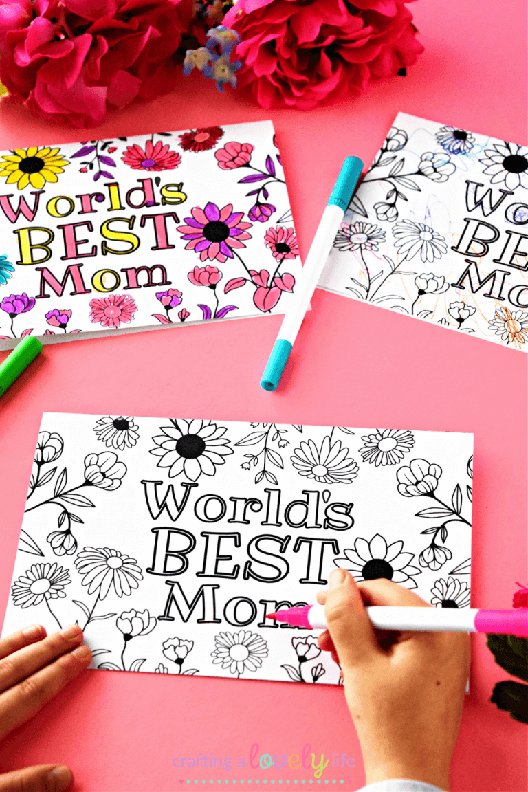 Free Printable Mother's Day Cards to Color
