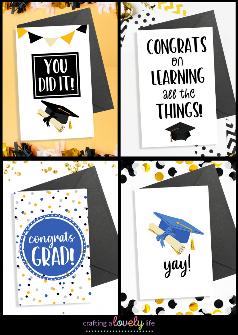 4 Printable Free Graduation Cards