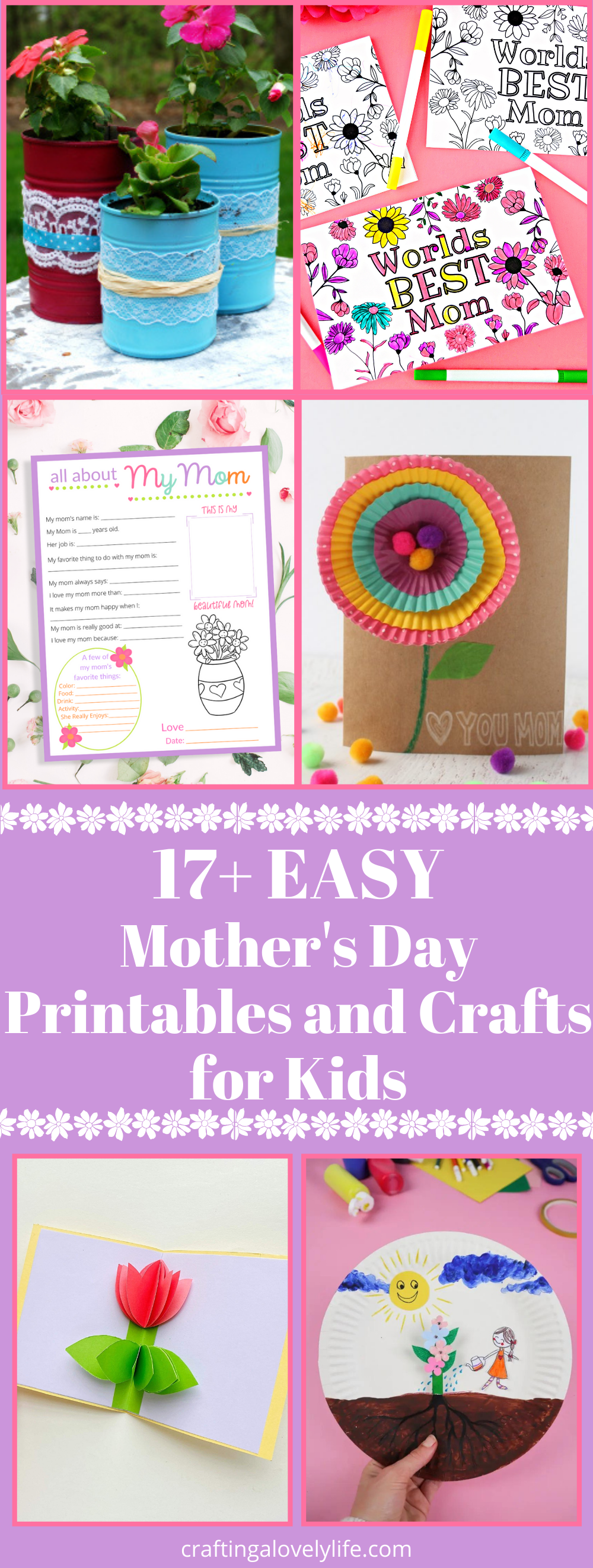 Free Mother's Day Printables and Crafts For Kids