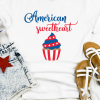Free American Sweetheart 4th of July SVG Cut File