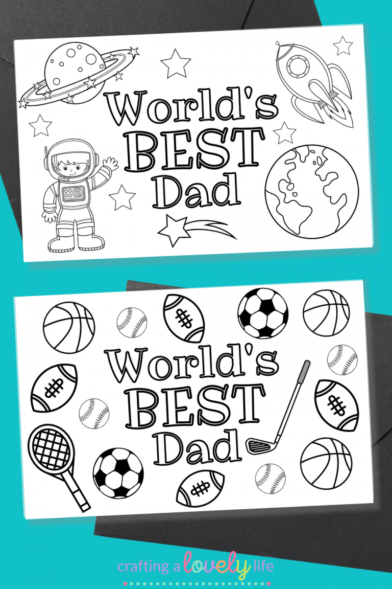 Free Printable Father's Day Cards to Color