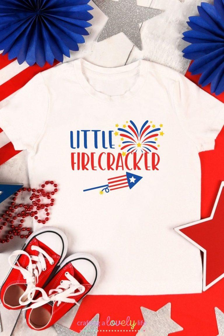 Free Little Firecracker 4th of July SVG Cut File