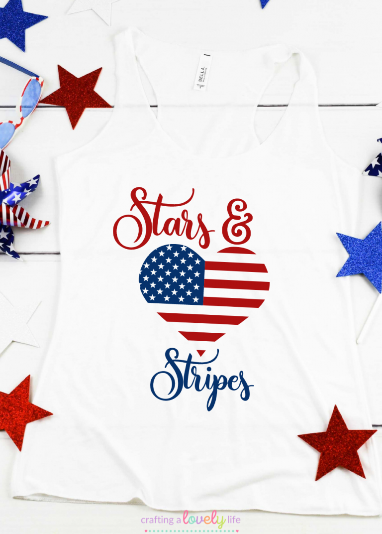 Free Stars and Stripes 4th of July SVG Cut File