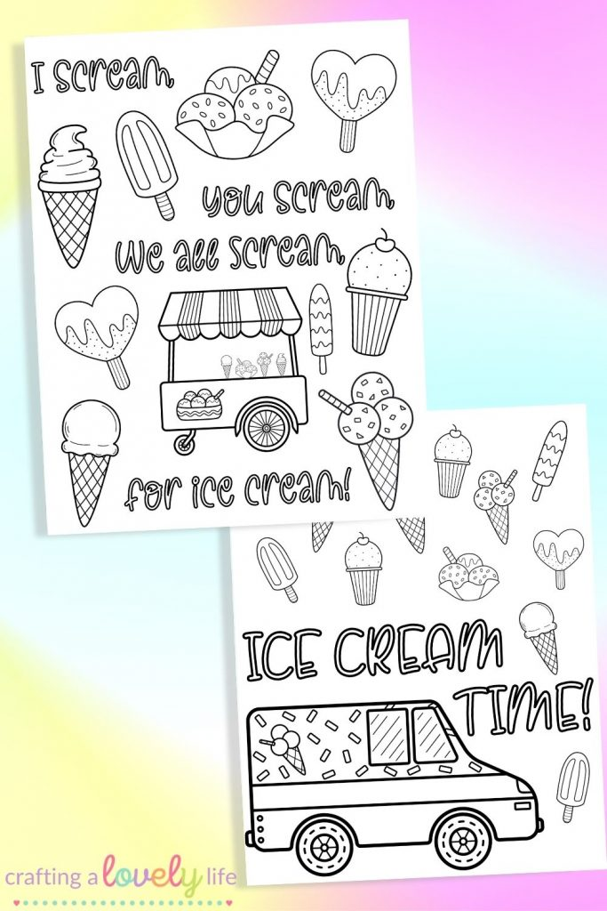Free Printable Ice Cream Coloring Sheets