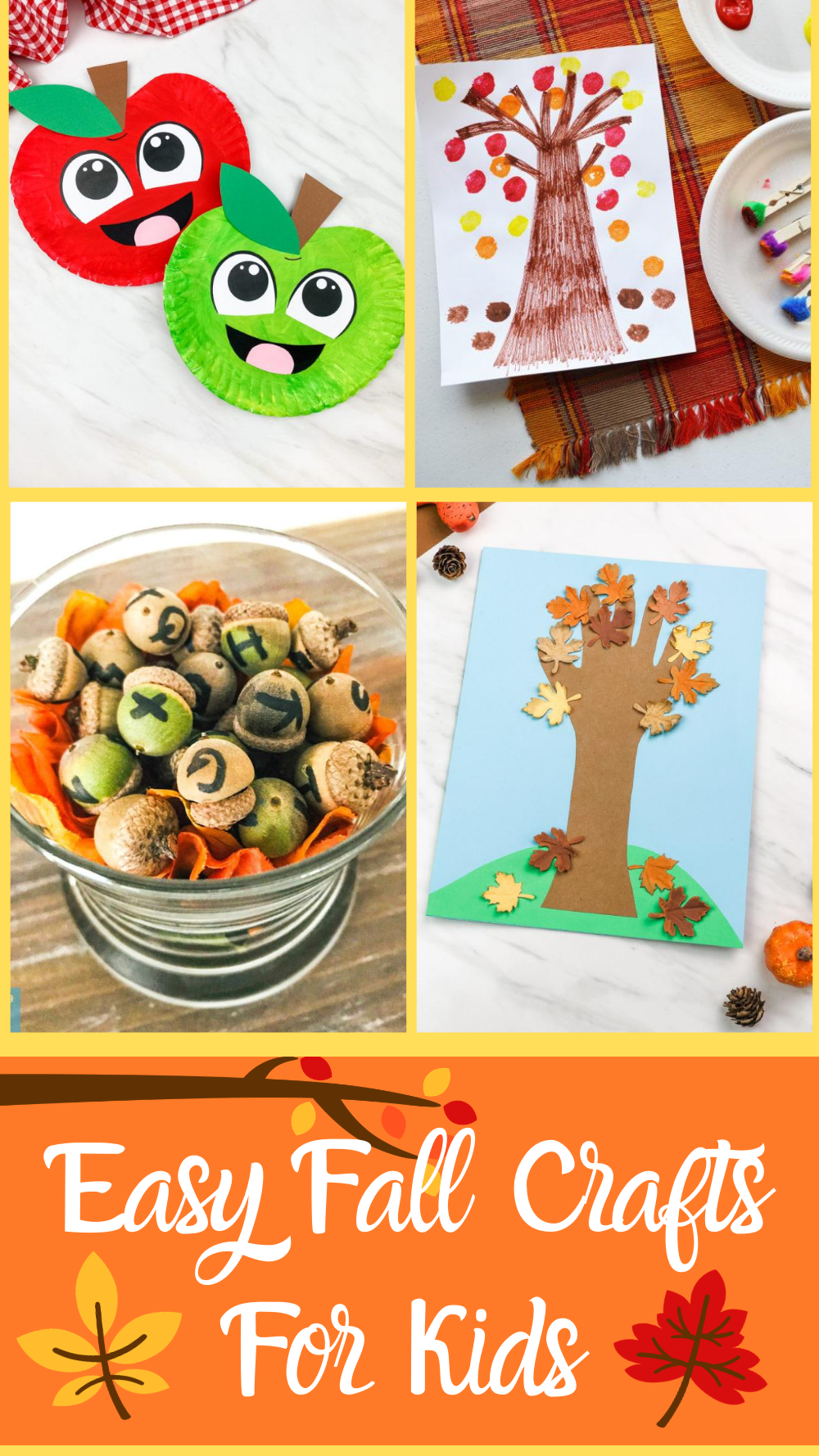 Easy Fall Crafts For Kids - 10 super cute and easy Fall crafts that your whole family is sure to enjoy!