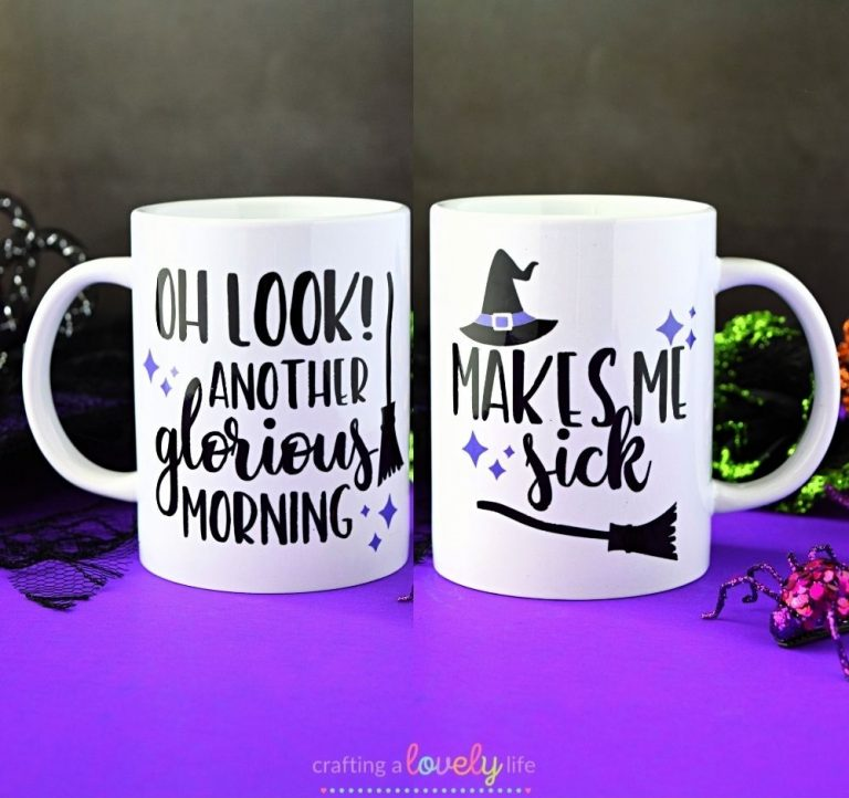 Hocus Pocus Mug Tutorial using Cricut Mug Press
